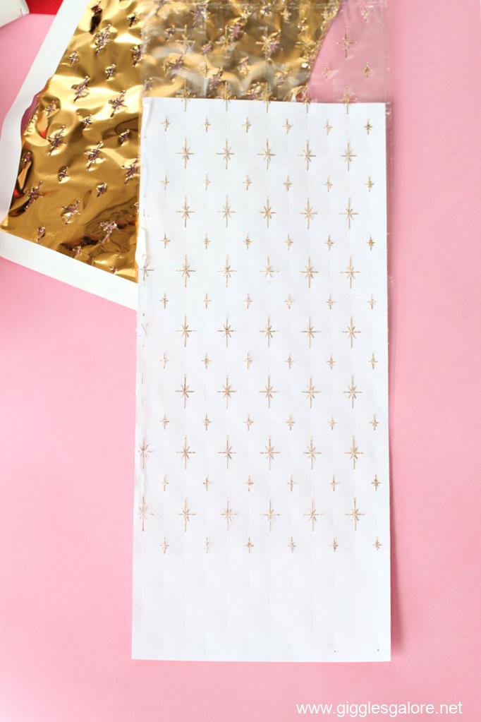 Cricut foil cellophane gift bag