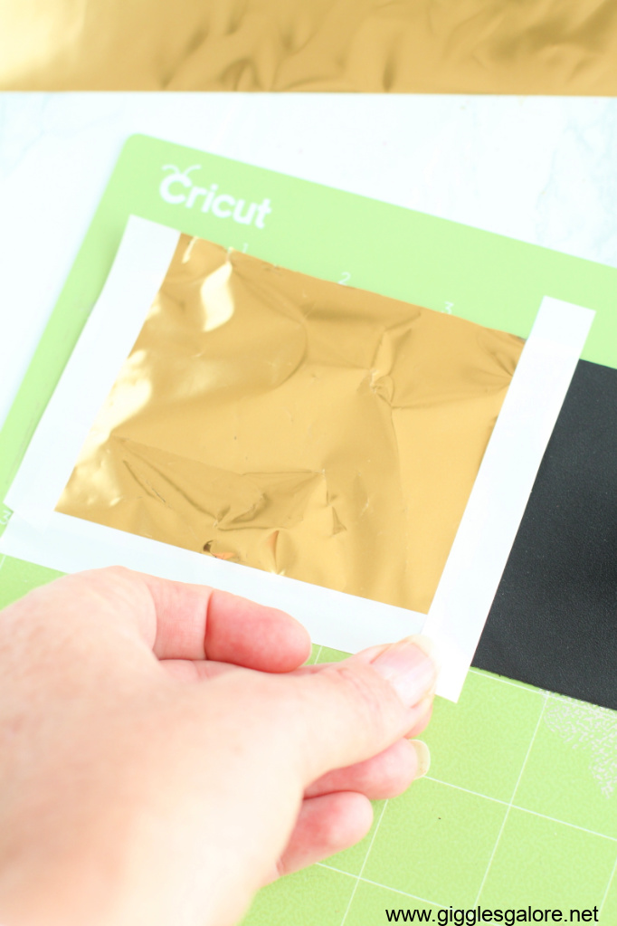Cricut foil sheets and leather