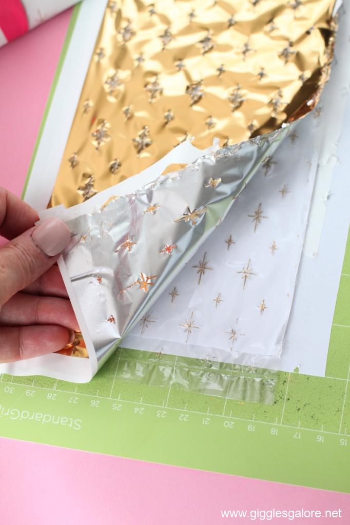 Cricut foil transfer sheet gift wrap