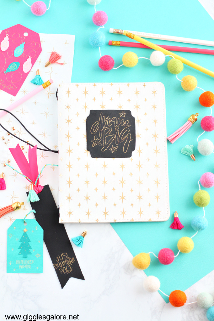 Diy dream big journal with cricut