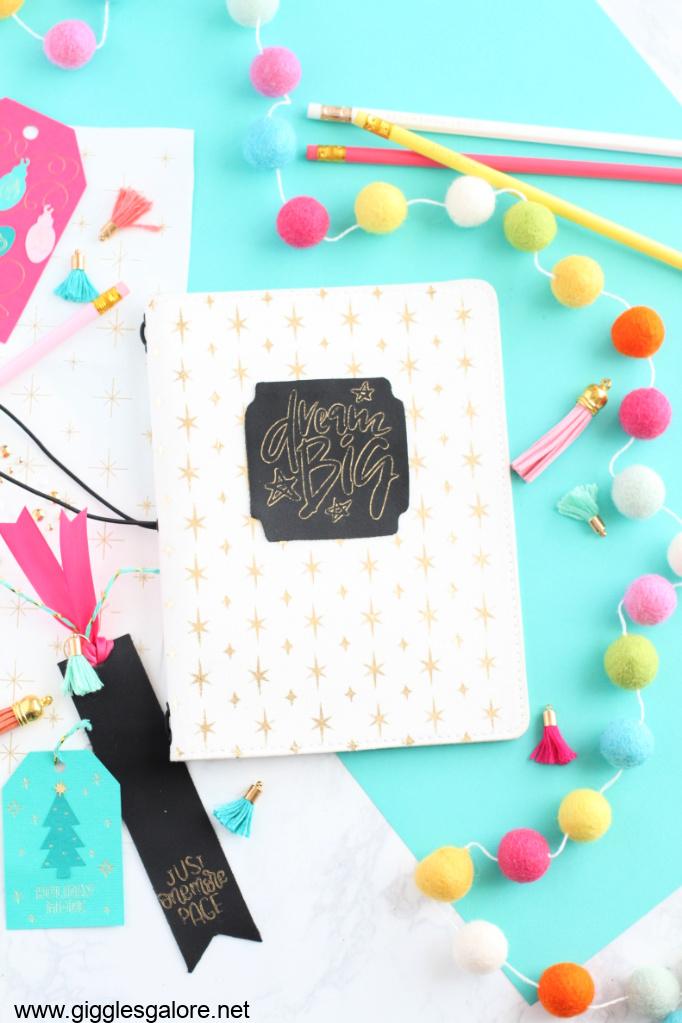 Diy journal with cricut maker