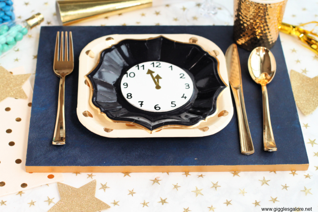 Diy suede and gold placemat