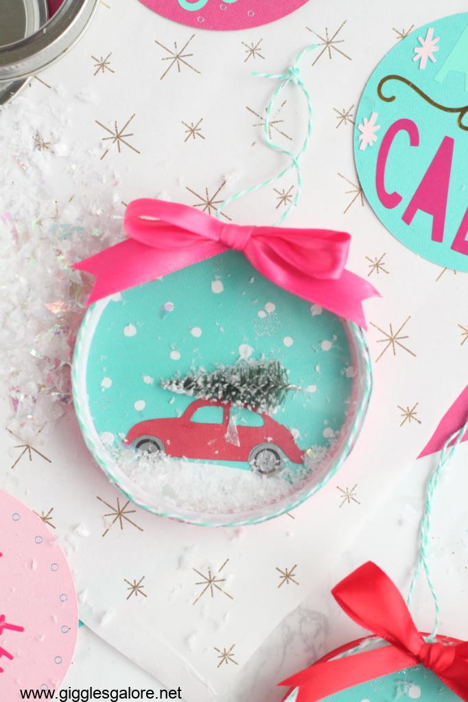 Lid snow globe ornaments