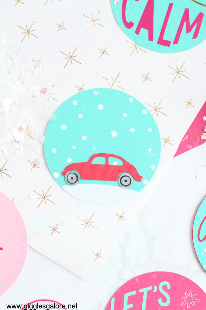 Little red holiday card