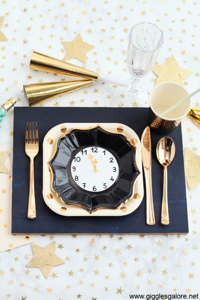 Luxe diy wood painted placemat for nye