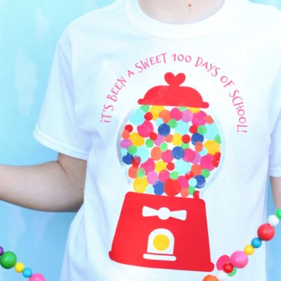 100 Sweet Days of School Bubblegum Shirt