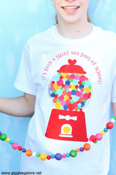 100 days of school bubblegum shirt 1