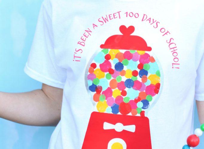 100 days of school bubblegum shirt 1
