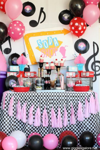 Diy 50s retro soda shop