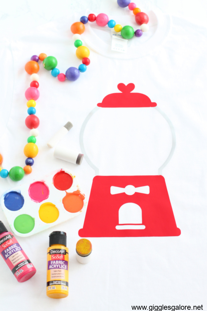 Diy painted gumball machine shirt
