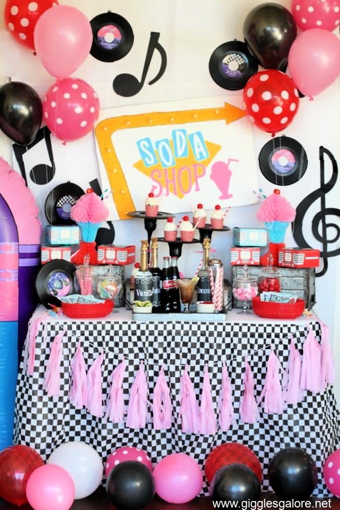 Retro soda shop 50s party