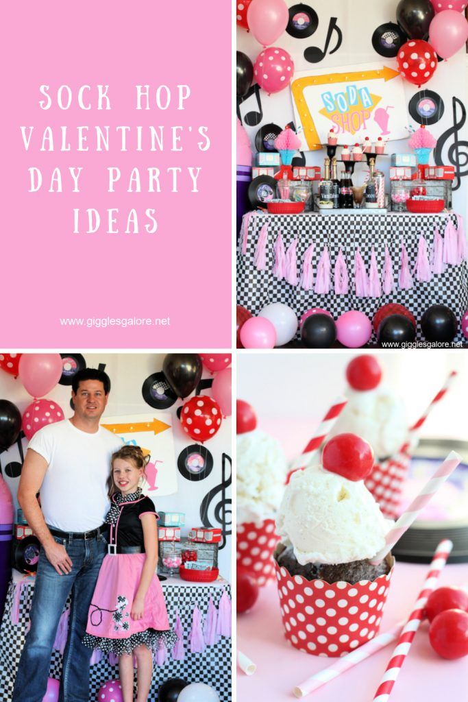 Sock hop valentines day party ideas
