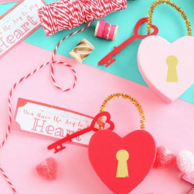 DIY Key to My Heart Valentine Treat Box