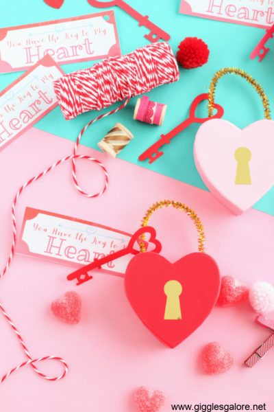Diy key to my heart valentine treat boxes