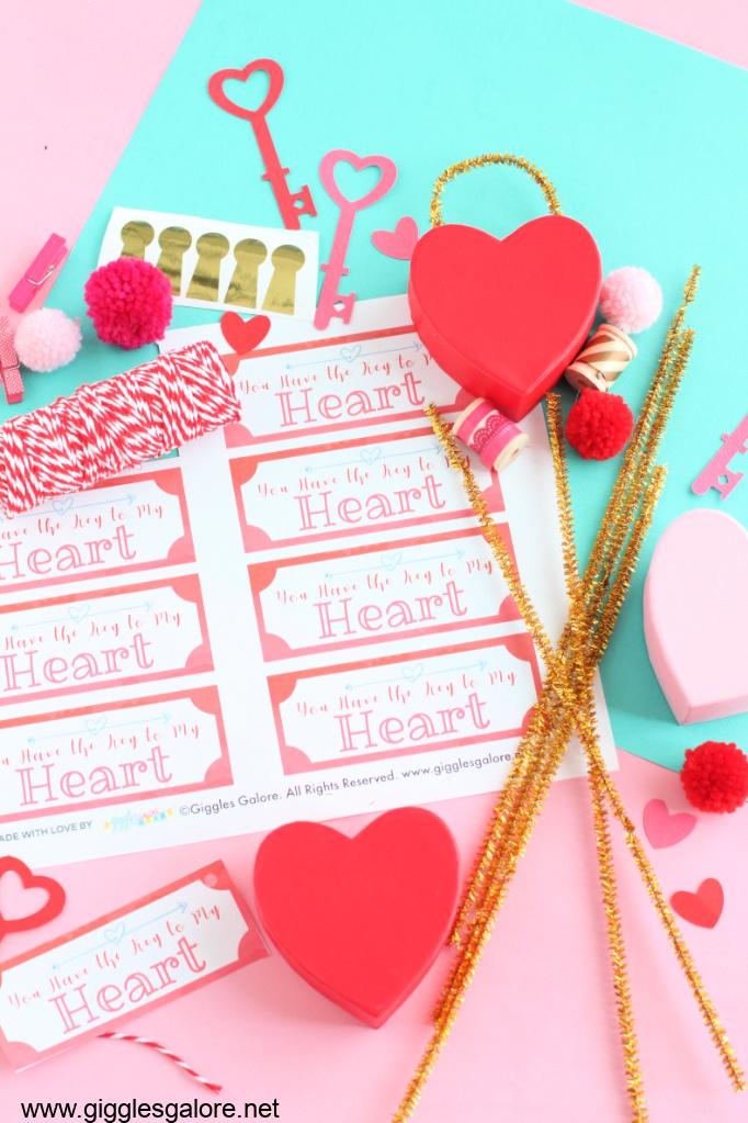 Diy valentine treat box supplies
