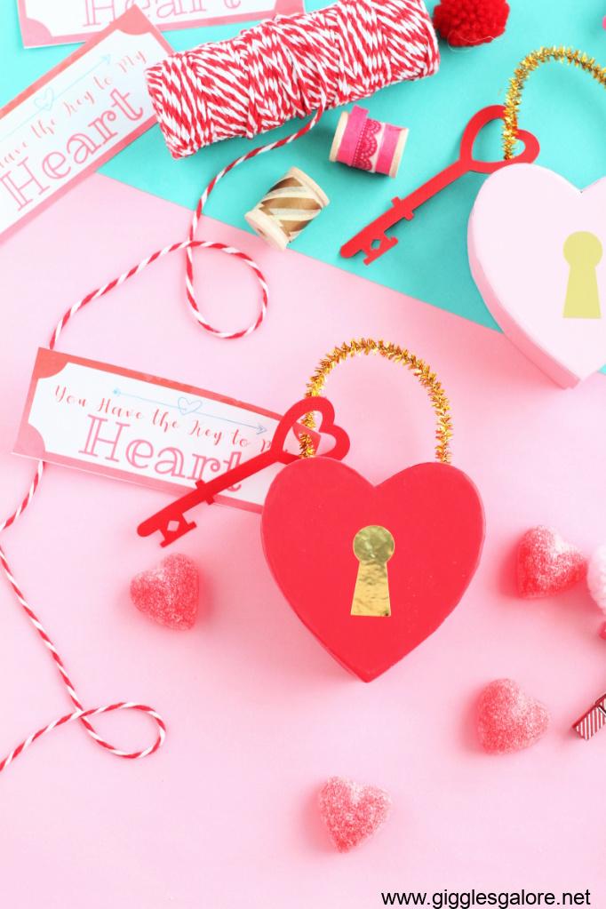 Heart shaped key to my heart box