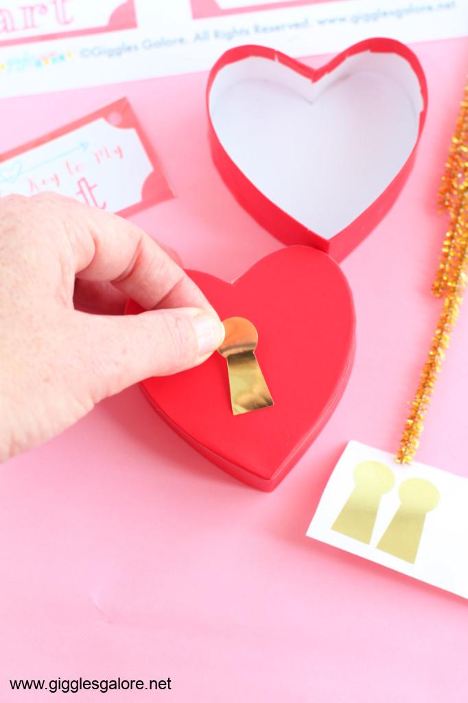 Key to my heart lock treat box