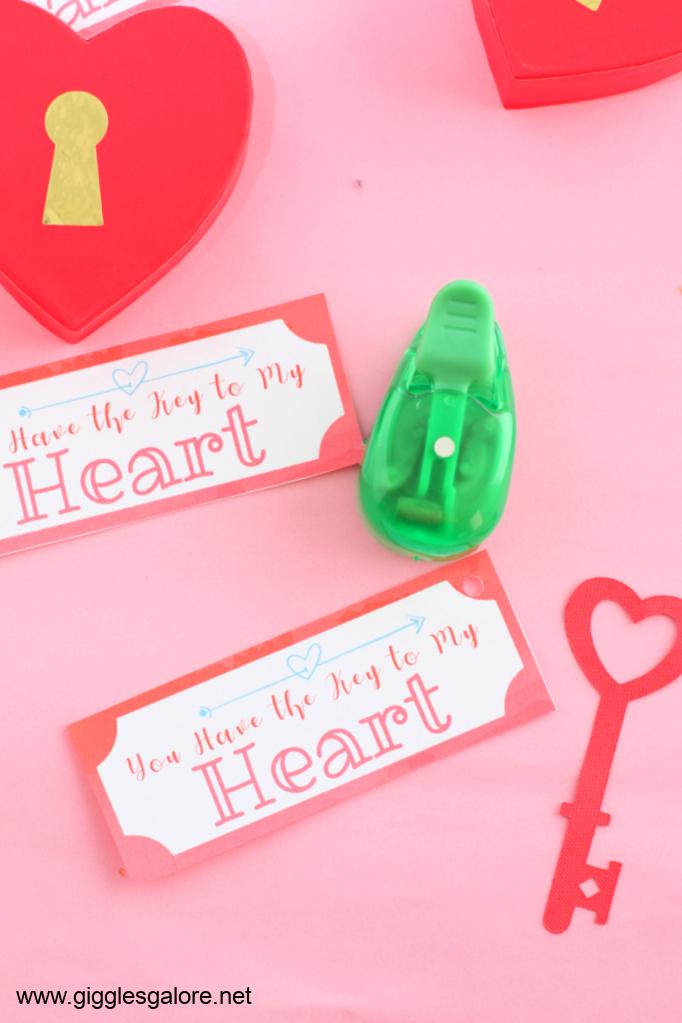 Key to my heart valentine printable