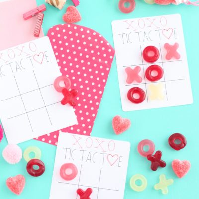 Cricut XOXO Valentine Tic Tac Toe Cards