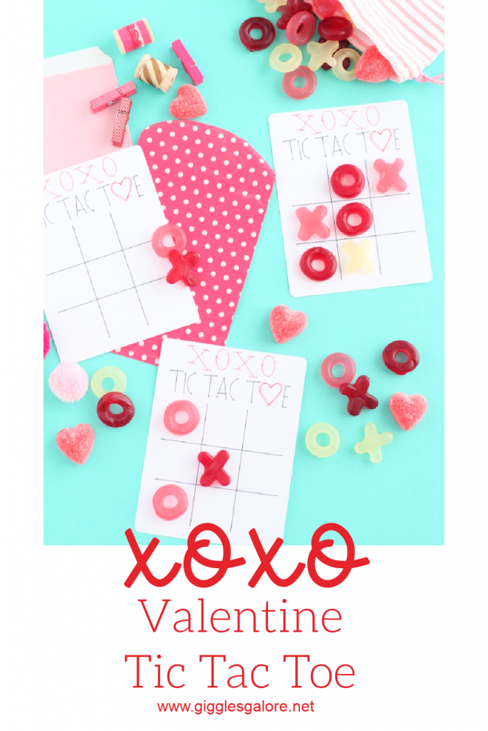 Xoxo valentine tic tac toe with cricut