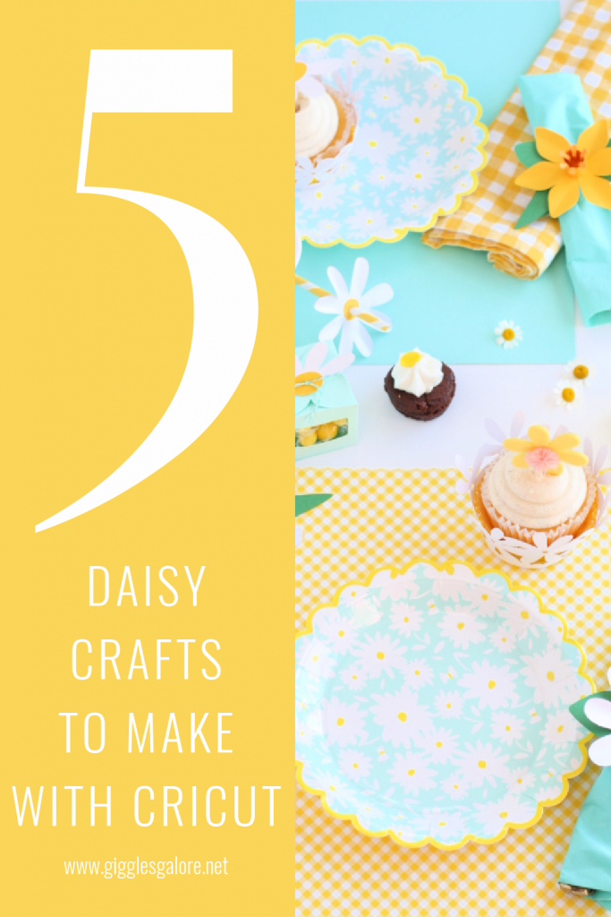 5 daisy crafts to make with cricut