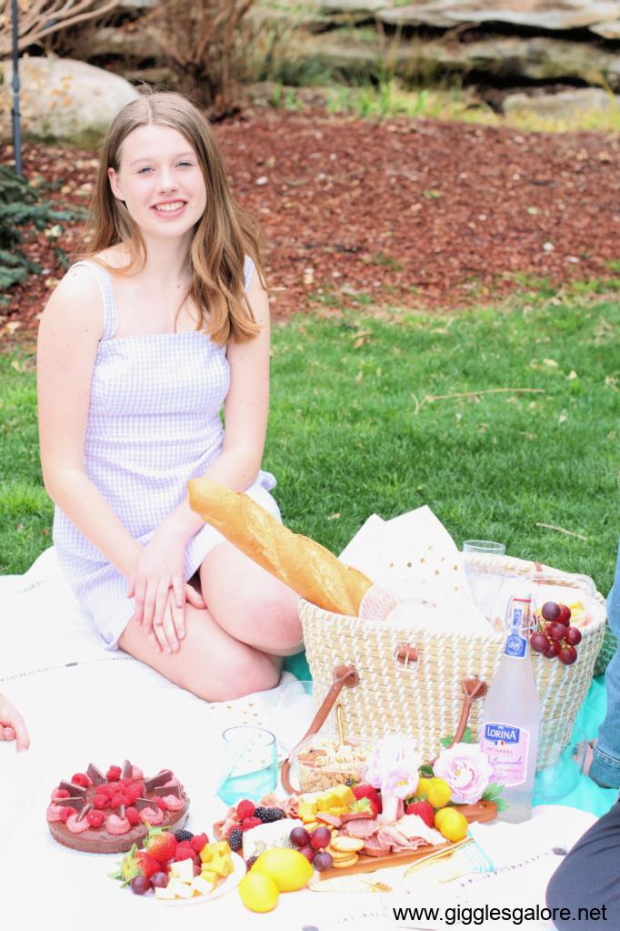 Aubrey picnic at arboretum