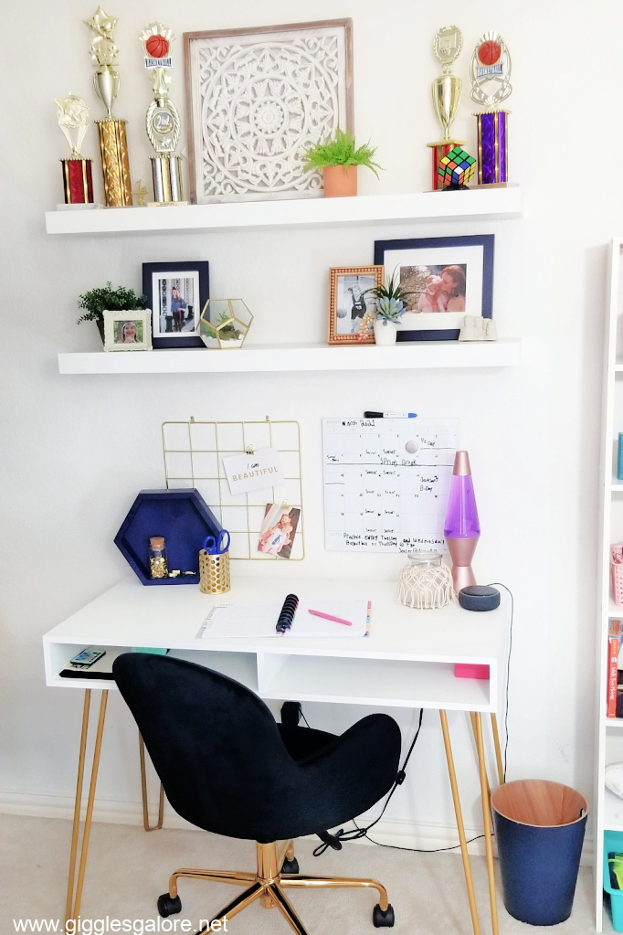 Boho bedroom desk