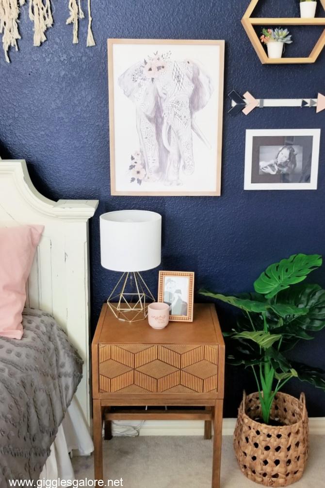 Boho bedroom nightstand