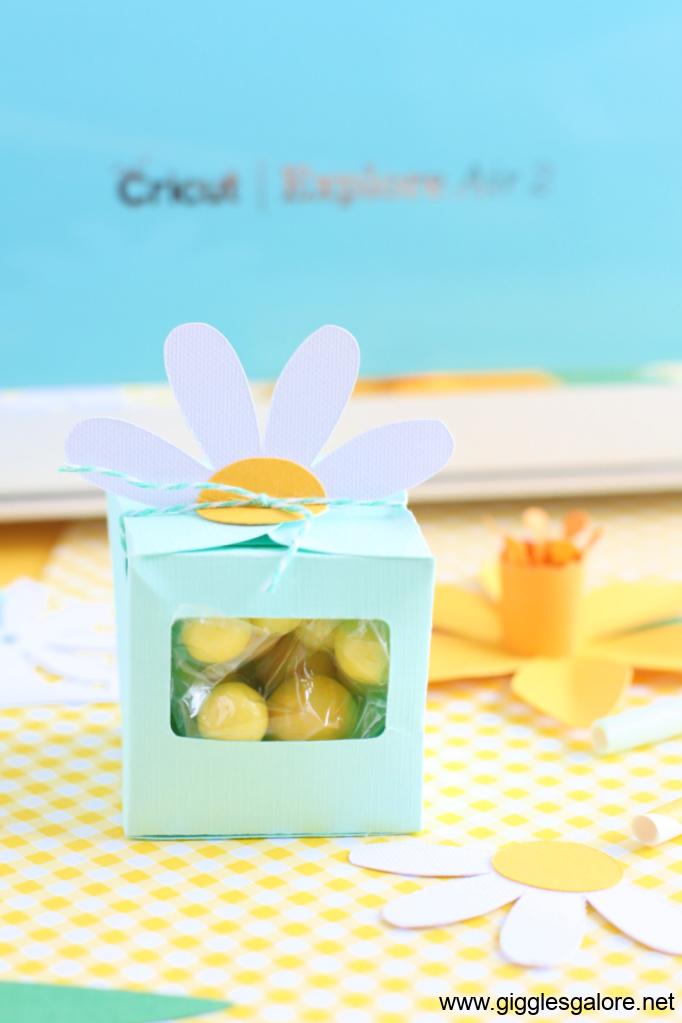 Cricut daisy favor box