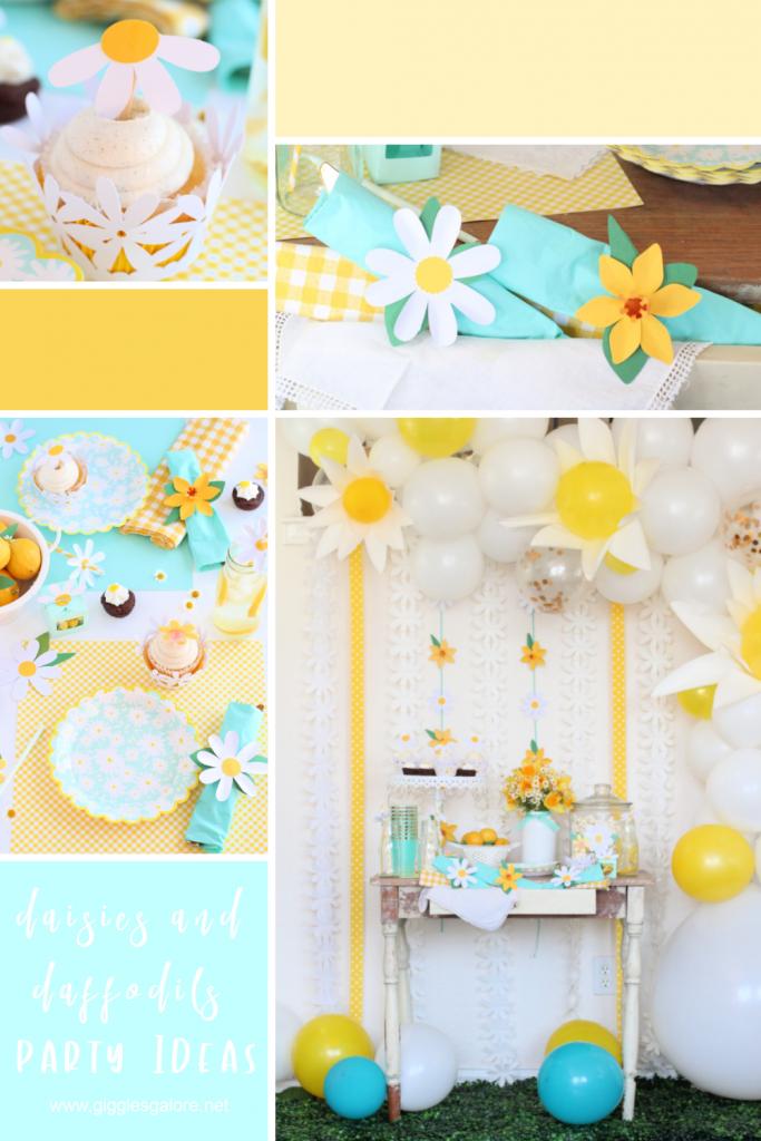 Cricut diy daisies daffodils party ideas