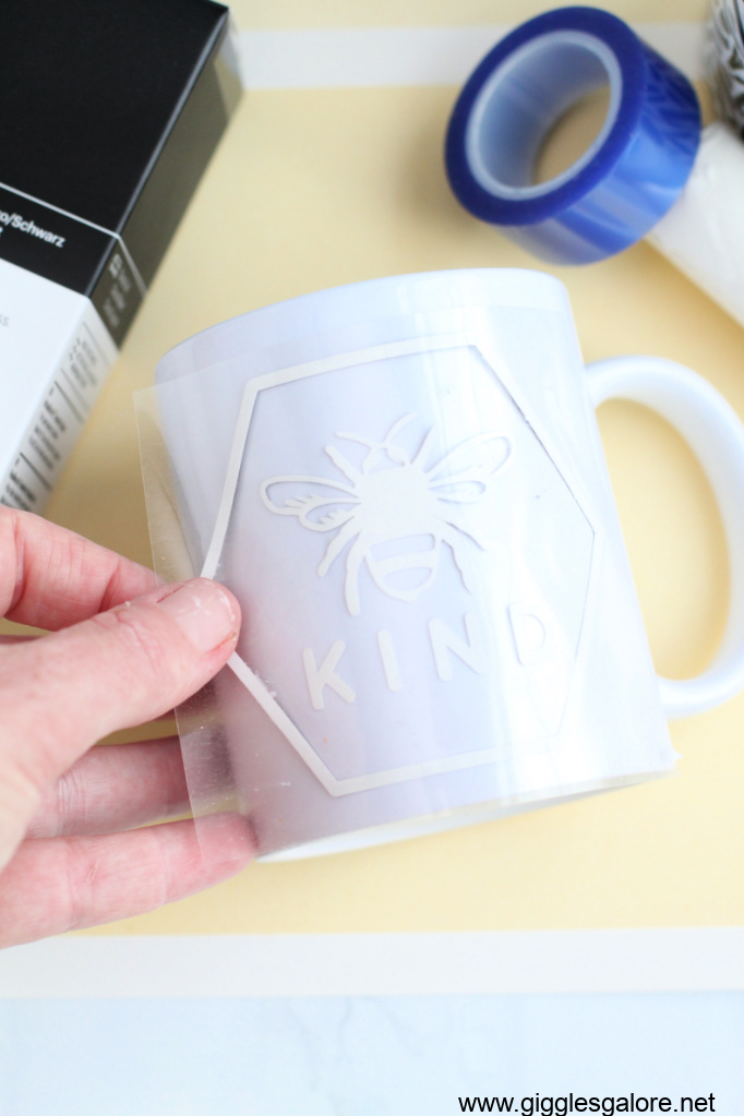 Cricut infusible ink bee kind design