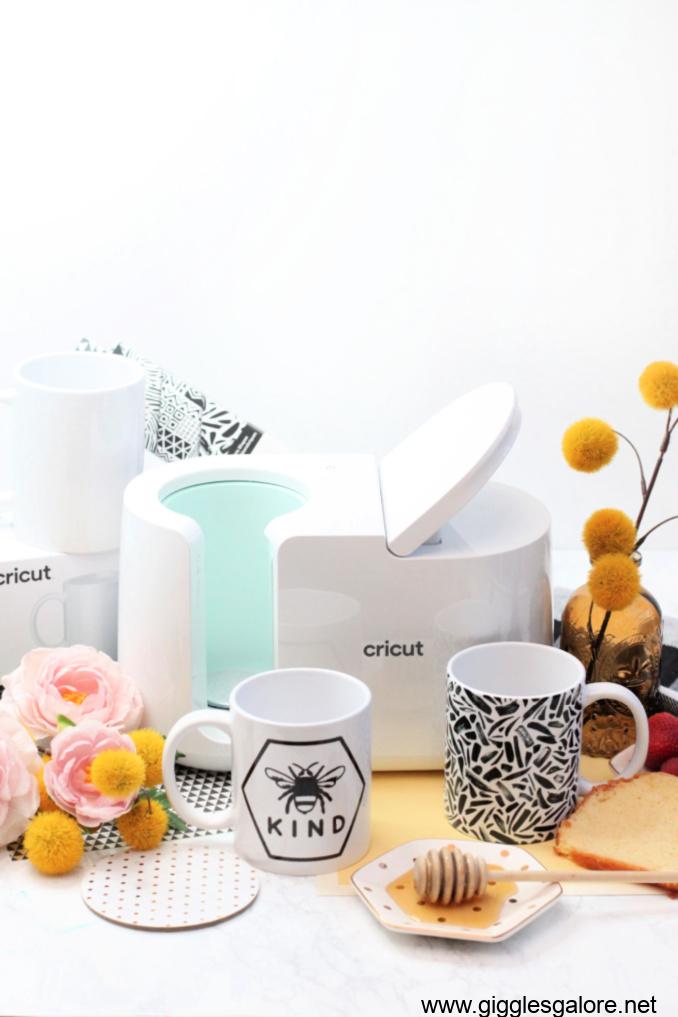 Cricut mug press bee kind project