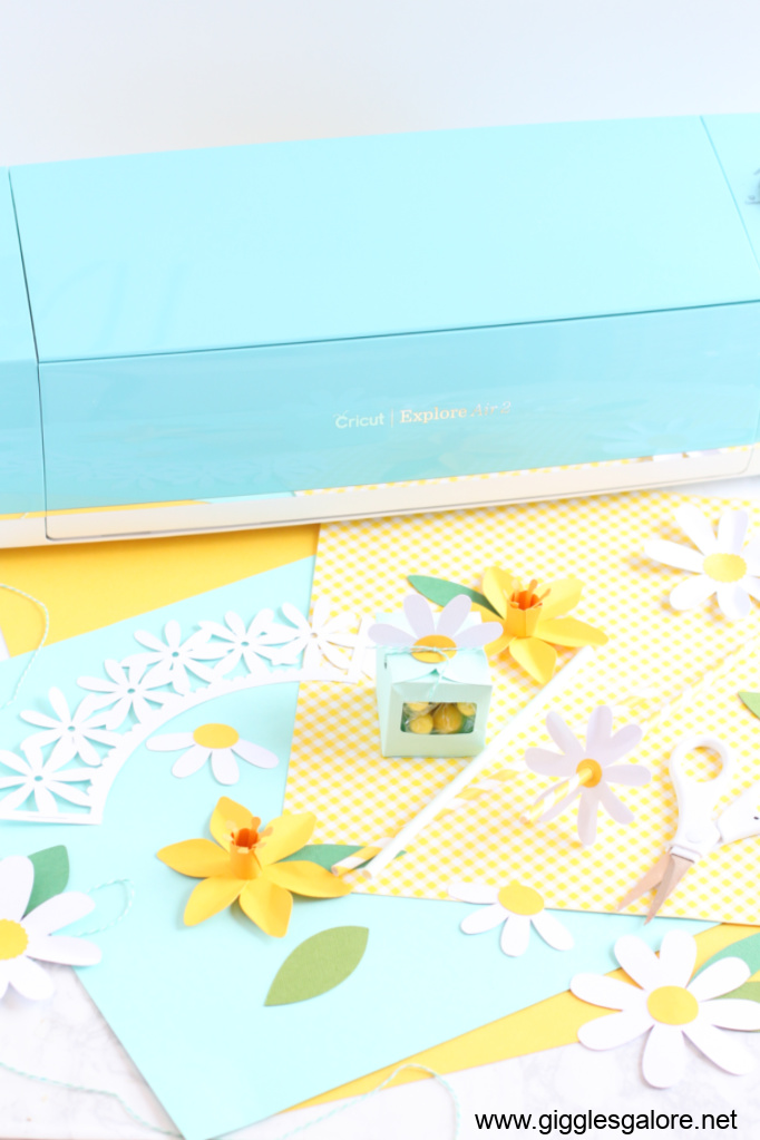 Dasies daffodils party with cricut