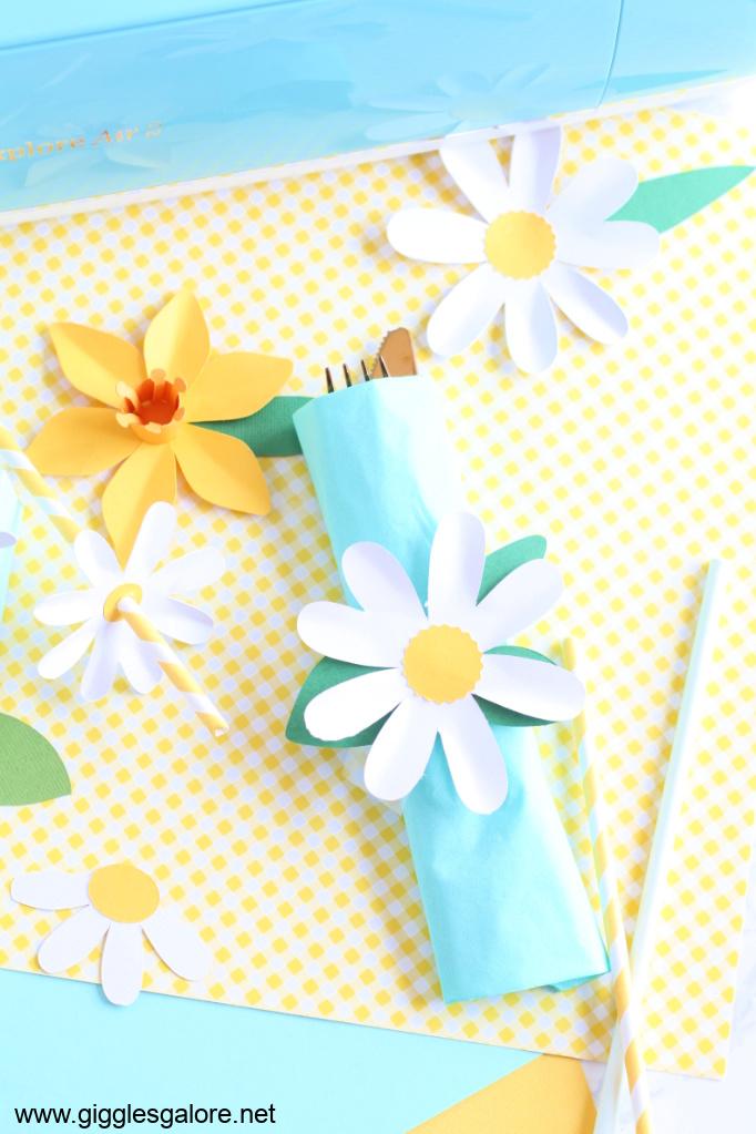 Diy daisy napkin rings