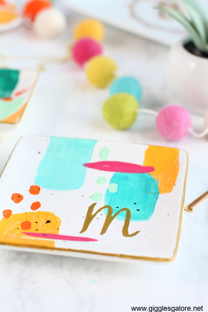 Diy monogram ring dish step 6