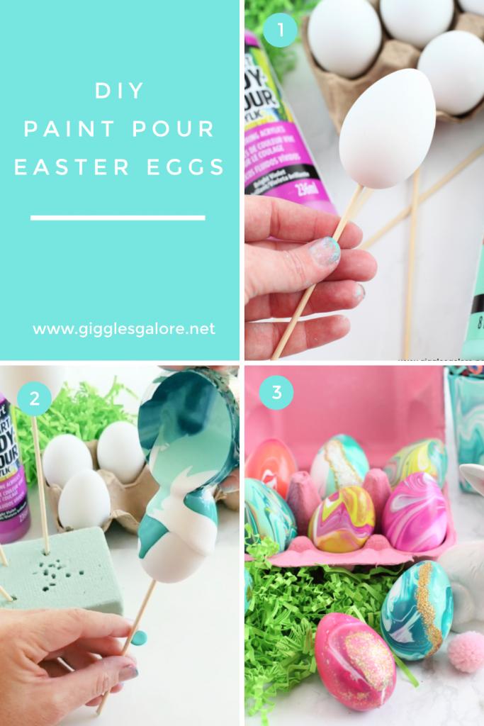Diy paint pour easter eggs tutorial