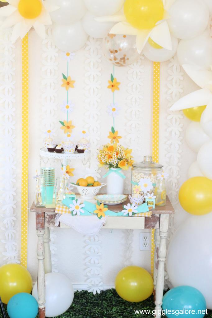 Easy daisy party ideas