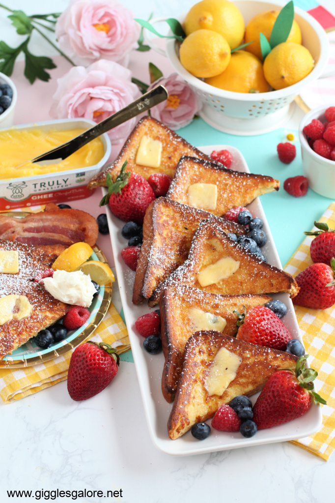 Golden french toast with ghee butter