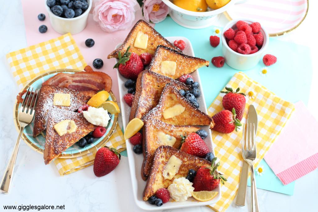 Lemon mascarpone french toast