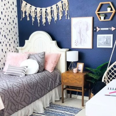 Teen Boho Bedroom Makeover with Cricut