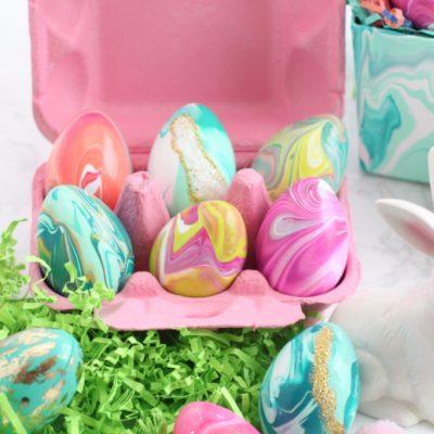 DIY Paint Pour Easter Eggs
