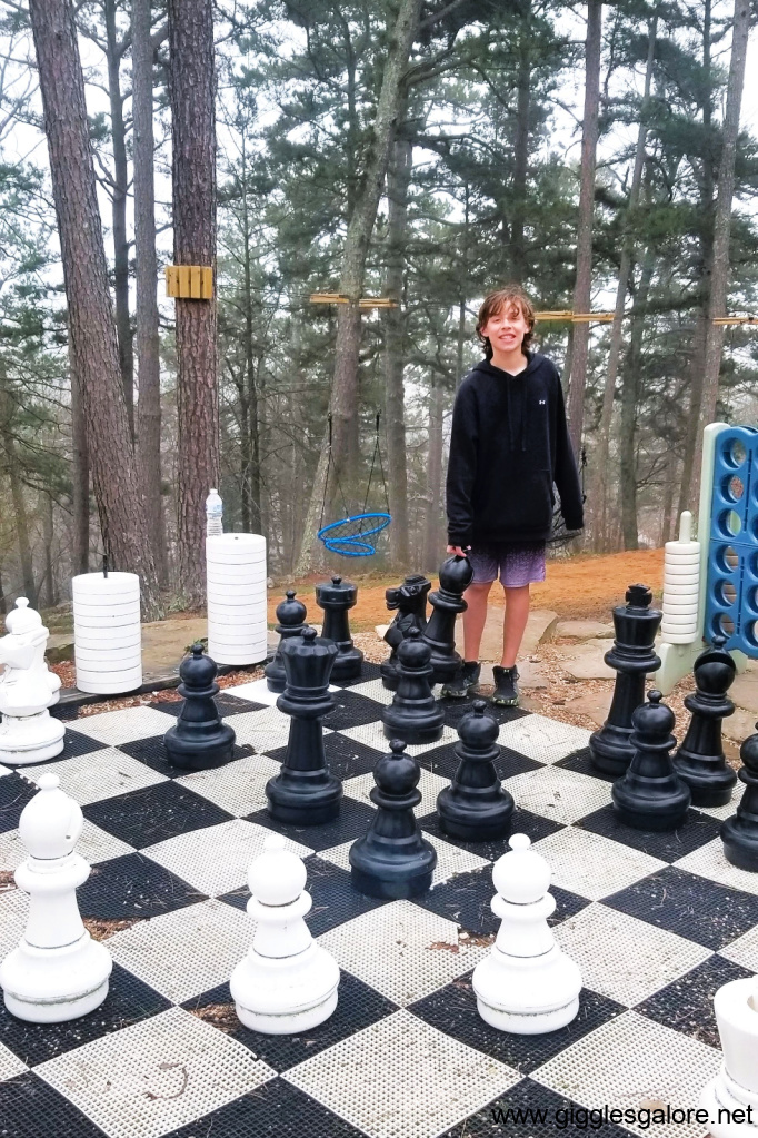 Playing outdoor chess