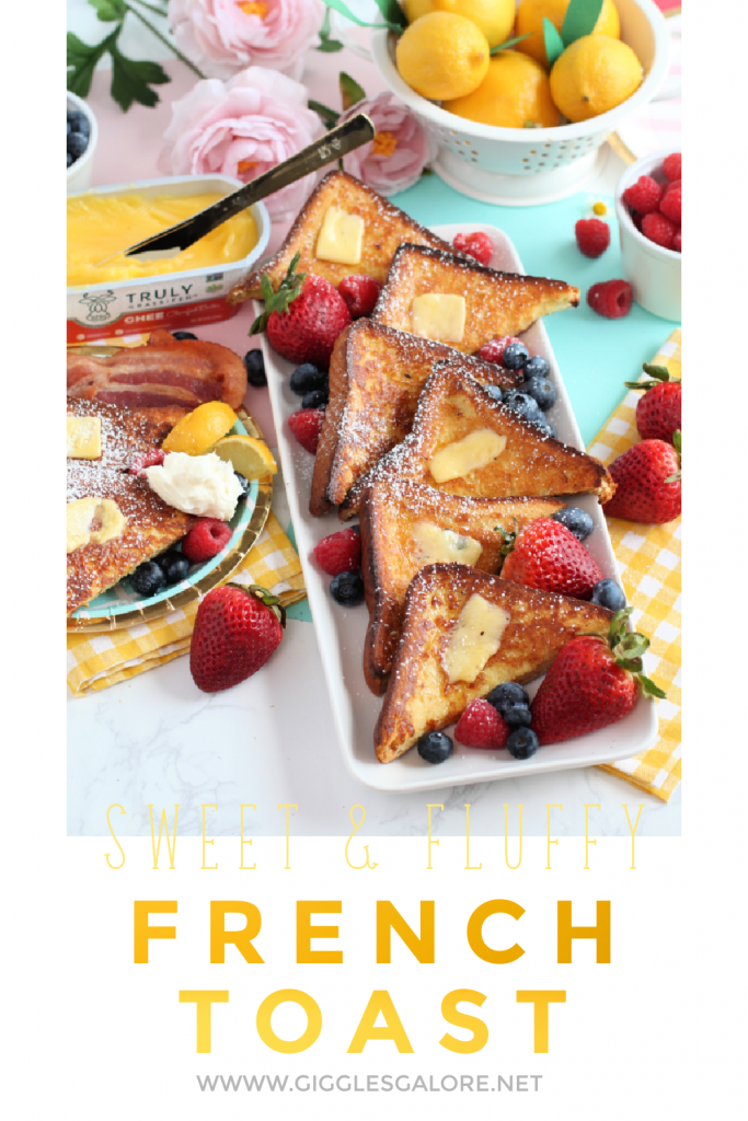 Sweet and fluffy french toast