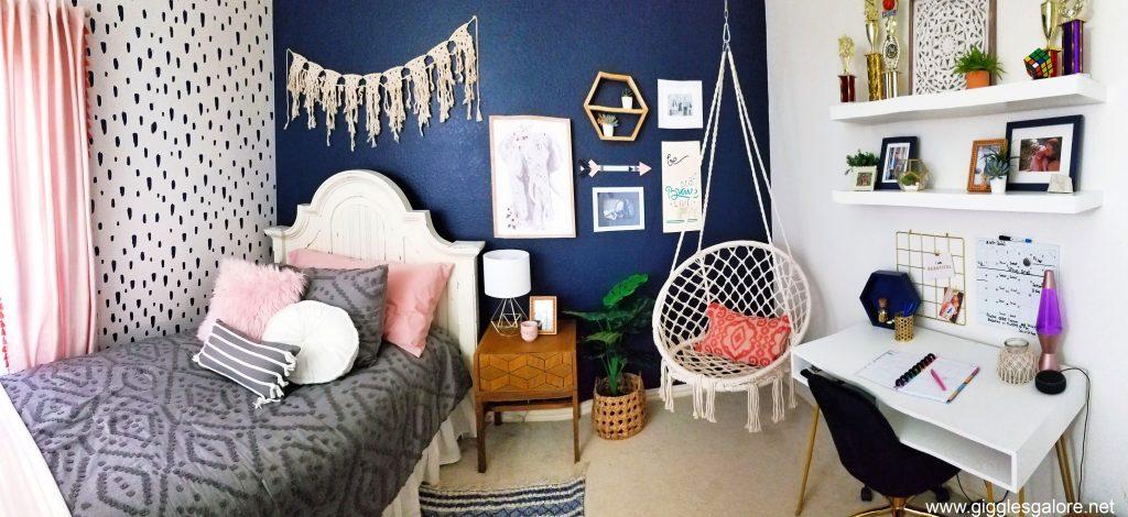 Teen girls boho bedroom makeover