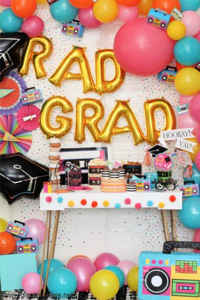 80s inspired rad grad graduation party ideas