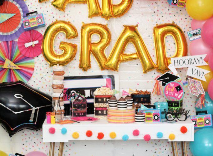 80s inspired rad grad graduation party ideas