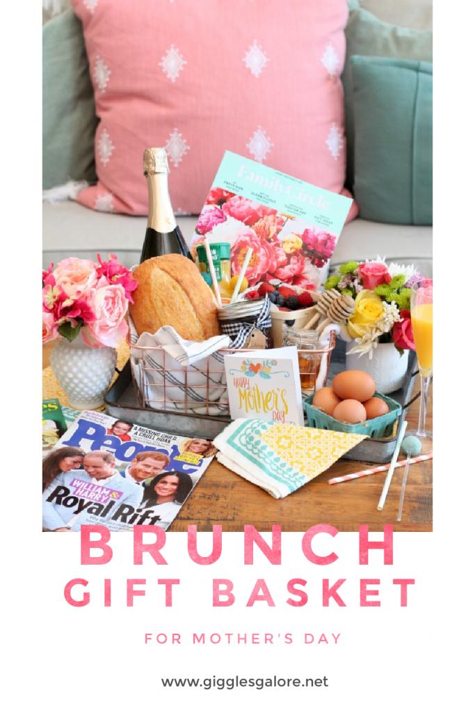 Brunch gift basket for mothers day