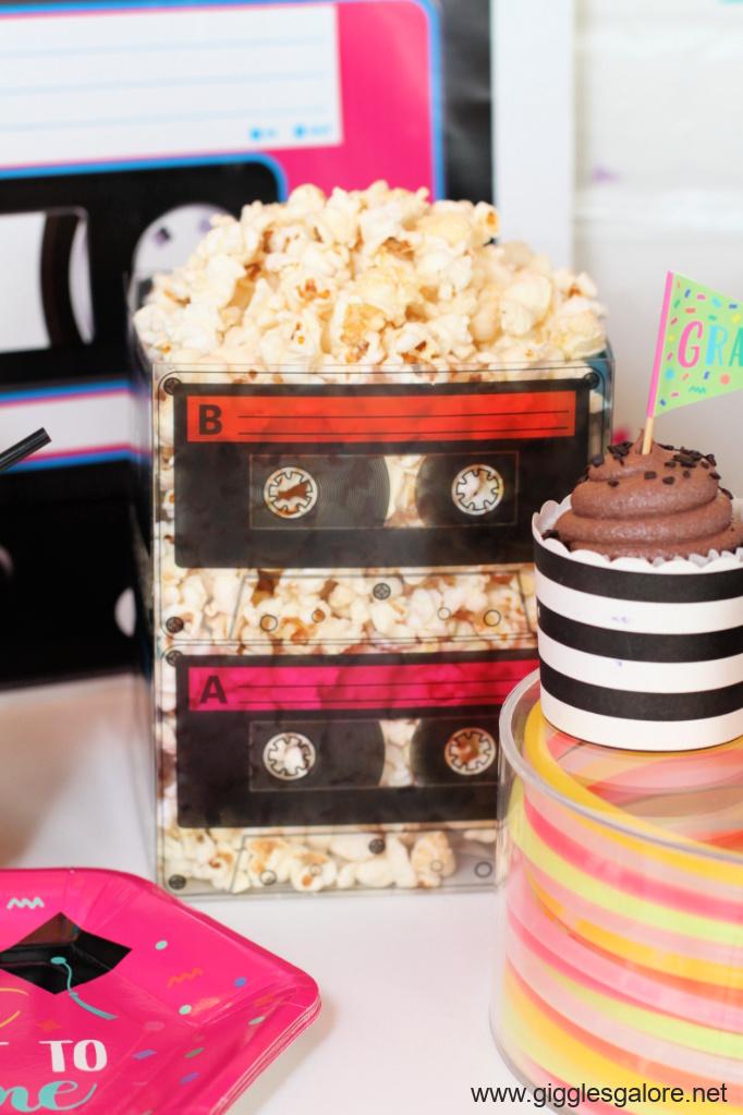 Cassette tape popcorn bucket