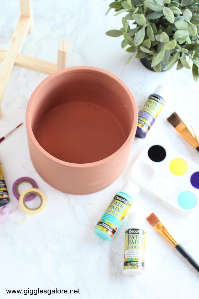 Colorblock modern flower pot supplies