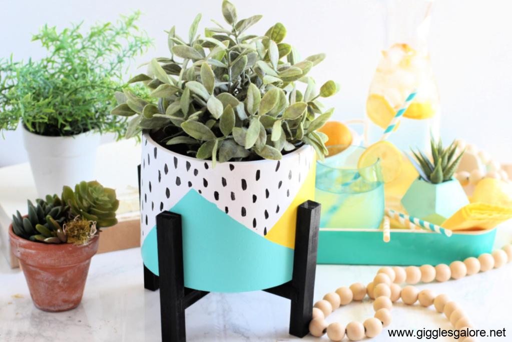 Colorful front porch flower pot fb